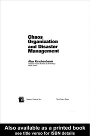 Chaos Organization and Disaster Management