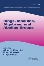Rings, Modules, Algebras, and Abelian Groups