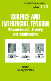 Surface and Interfacial Tension: Measurement, Theory, and Applications