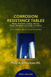 Corrosion Resistance Tables: Metals, Nonmetals, Coatings, Mortars, Plastics, Elastomers, and Linings and Fabrics, Fifth Edition (4 Volume Set)
