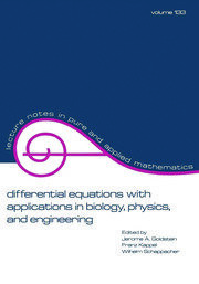 Differential Equations with Applications in Biology, Physics, and Engineering - 1st Edition book cover