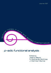 p-adic Function Analysis - 1st Edition book cover