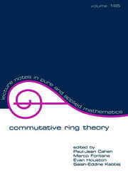 commutative ring theory - 1st Edition book cover