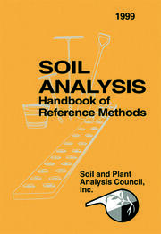 Soil Analysis Handbook of Reference Methods