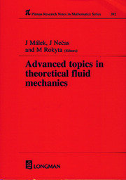 Advanced Topics in Theoretical Fluid Mechanics