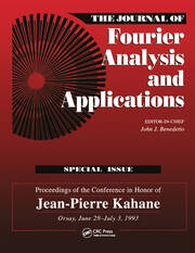 Journal of Fourier Analysis and Applications Special Issue - 1st Edition book cover
