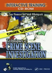 Techniques of Crime Scene Investigation Interactive Training CD-ROM
