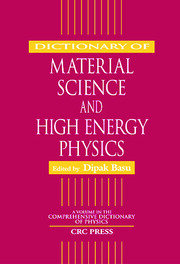 Dictionary of Material Science and High Energy Physics