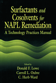 Surfactants and Cosolvents for NAPL Remediation A Technology Practices Manual