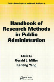 Handbook of Research Methods in Public Administration