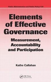Elements of Effective Governance: Measurement, Accountability and Participation