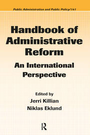 Handbook of Administrative Reform: An International Perspective