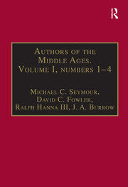 Authors of the Middle Ages. Volume I, Nos 1–4 - 1st Edition book cover