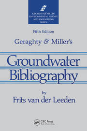 Geraghty & Miller's Groundwater Bibliography, Fifth Edition - 5th Edition book cover