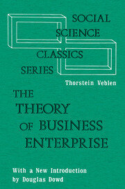 The Theory of Business Enterprise - 1st Edition book cover