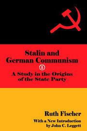 Stalin and German Communism - 1st Edition book cover