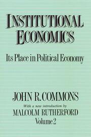 Institutional Economics - 1st Edition book cover