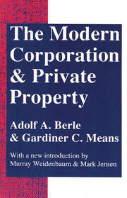 The Modern Corporation and Private Property - 2nd Edition book cover