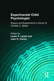 Experimental Child Psychologist - 1st Edition book cover