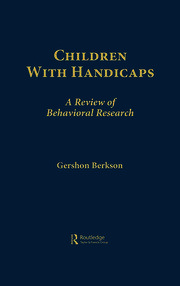 Children With Handicaps - 1st Edition book cover