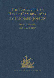 The Discovery of River Gambra (1623) by Richard Jobson - 1st Edition book cover
