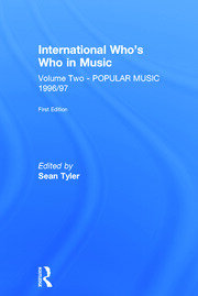 Intl Whos Who Popular Music E1 - 1st Edition book cover