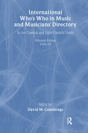 Intl Whos Who Music&Ency Ed15 - 1st Edition book cover