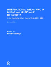 International Who's Who in Music - 17th Edition book cover