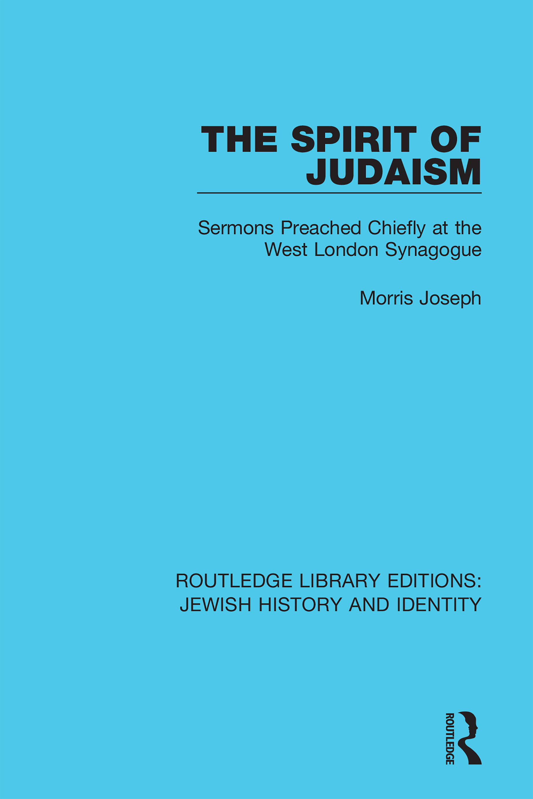 The Spirit of Judaism -  1st Edition book cover