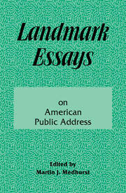 Landmark Essays on American Public Address - 1st Edition book cover