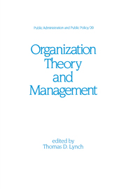 Organization Theory and Management - 1st Edition book cover