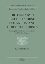 Dictionary Of British And Irish Botantists And Horticulturalists Including plant collectors, flower painters and garden designers - 2nd Edition book cover