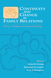 Continuity and Change in Family Relations - 1st Edition book cover