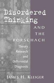 Disordered Thinking and the Rorschach - 1st Edition book cover