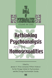 The Annual of Psychoanalysis, V. 30 - 1st Edition book cover