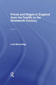Prices and Wages in England - 1st Edition book cover