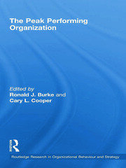 The Peak Performing Organization - 1st Edition book cover