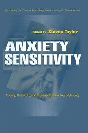 Anxiety Sensitivity - 1st Edition book cover