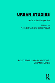 Urban Studies: A Canadian Perspective