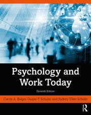 Psychology and Work Today -  11th Edition book cover