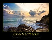 Conviction Poster - 1st Edition book cover
