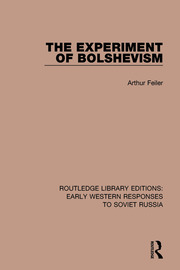 The Experiment of Bolshevism - 1st Edition book cover