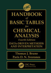 CRC Handbook of Basic Tables for Chemical Analysis: Data-Driven Methods and Interpretation