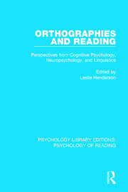 Orthographies and Reading - 1st Edition book cover