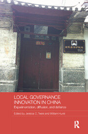 Local Governance Innovation in China - 1st Edition book cover
