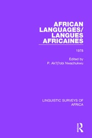 African Languages/Langues Africaines - 1st Edition book cover