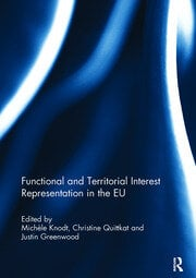 Functional and Territorial Interest Representation in the EU - 1st Edition book cover
