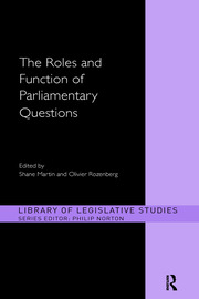 The Roles and Function of Parliamentary Questions - 1st Edition book cover