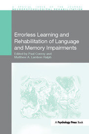 Errorless Learning and Rehabilitation of Language and Memory Impairments