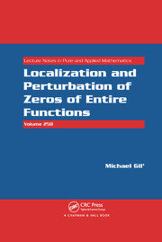 Localization and Perturbation of Zeros of Entire Functions - 1st Edition book cover